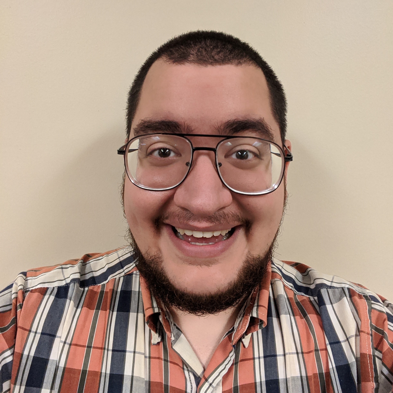 Ethan smiling at camera
