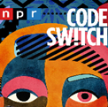 npr code switch with abstract face in the background